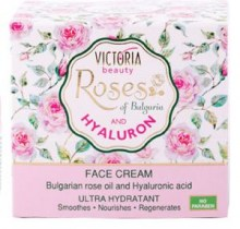 Face cream with Bulgarian rose oil and Hyaluron