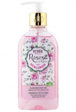 Cleansing gel for face with rose oil and hyaluronic acid